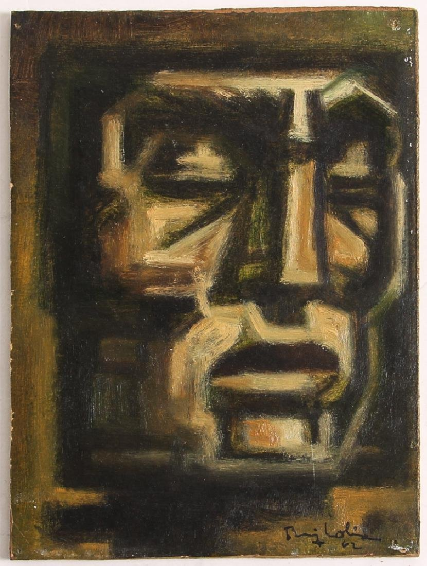 1962 painting Geometric Head of  a Woman