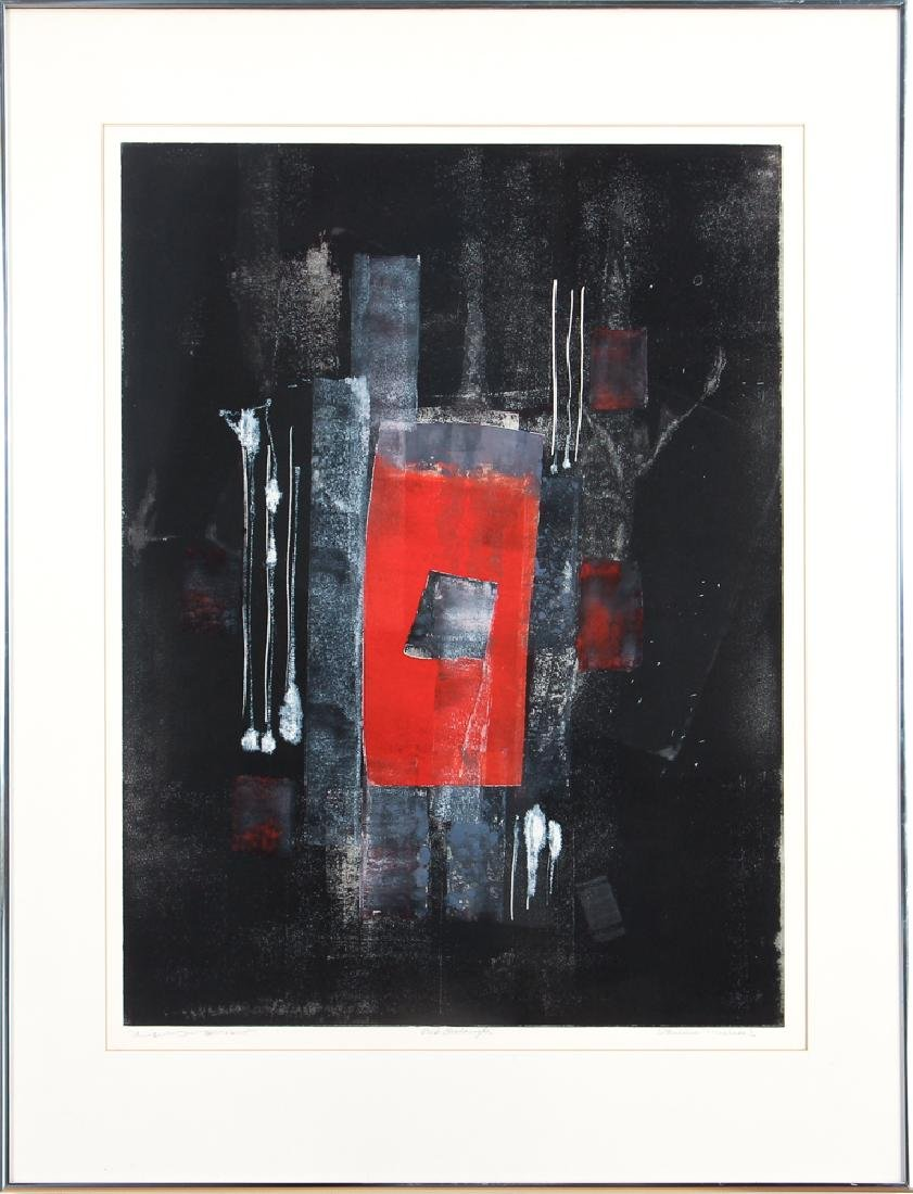 Pauline Michaels monoprint Red rectangle - 2