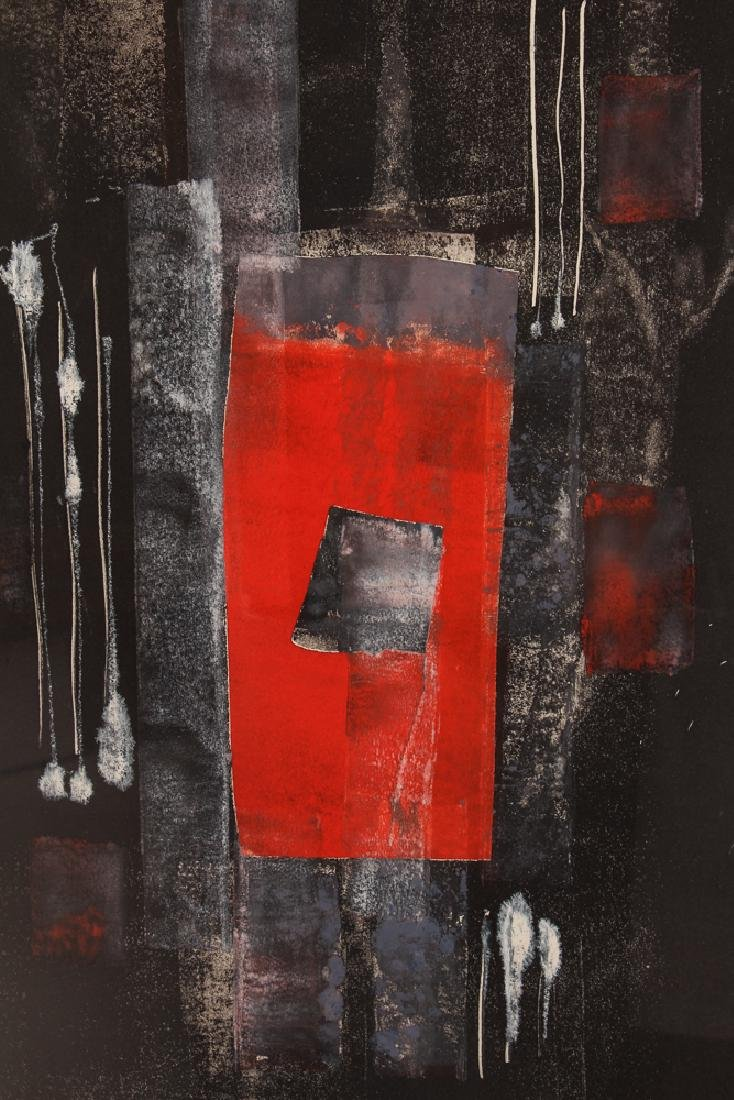 Pauline Michaels monoprint Red rectangle - 6