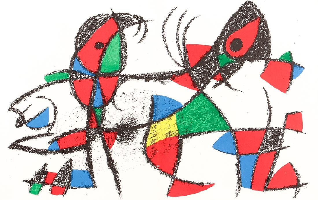 After Joan Miro UNTITLED LITHOGRAPH 1974