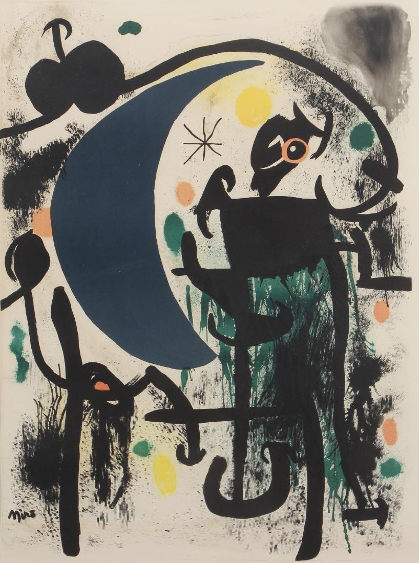 Joan Miro color lithograph