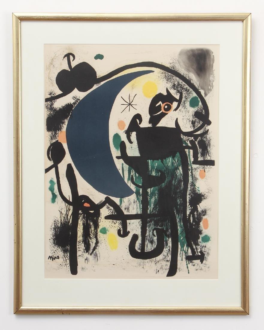 Joan Miro color lithograph - 2