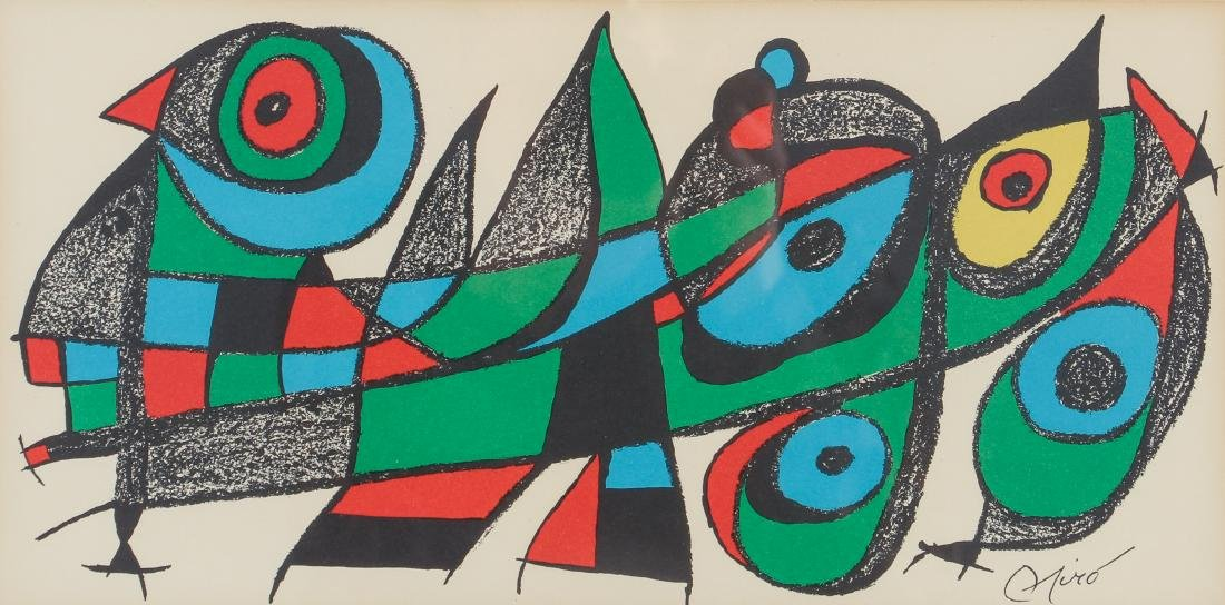 Miro Plate Signed Escultor Series Lithograph