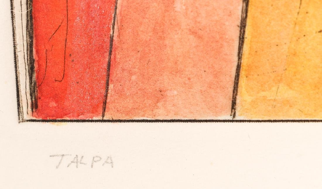 Miklos Pogany  color etching Talpa (Red) - 3
