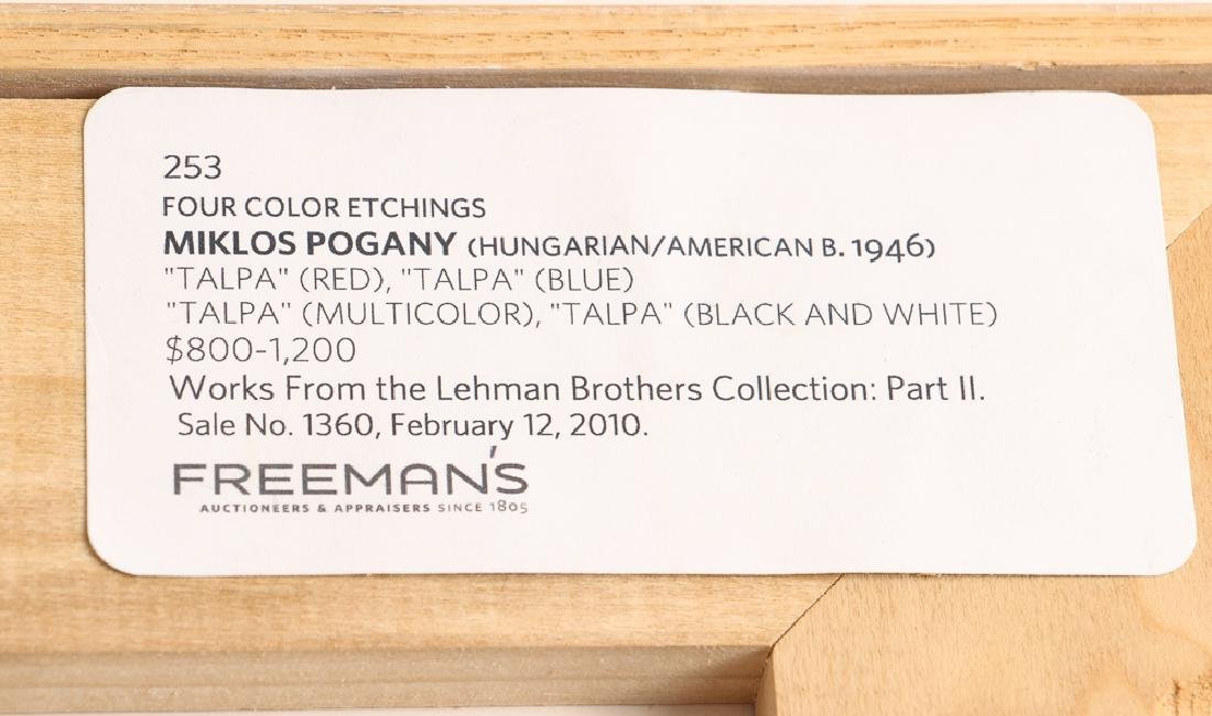 Miklos Pogany  color etching Talpa (Red) - 8