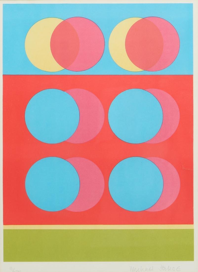 2 Michael Stokoe 1969 serigraphs Allusion & Squire