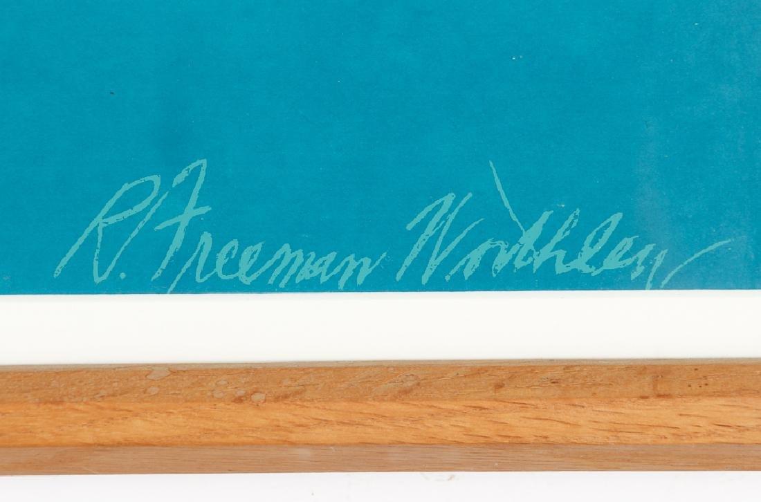 R. Freeman Worthley framed serigraph - 3