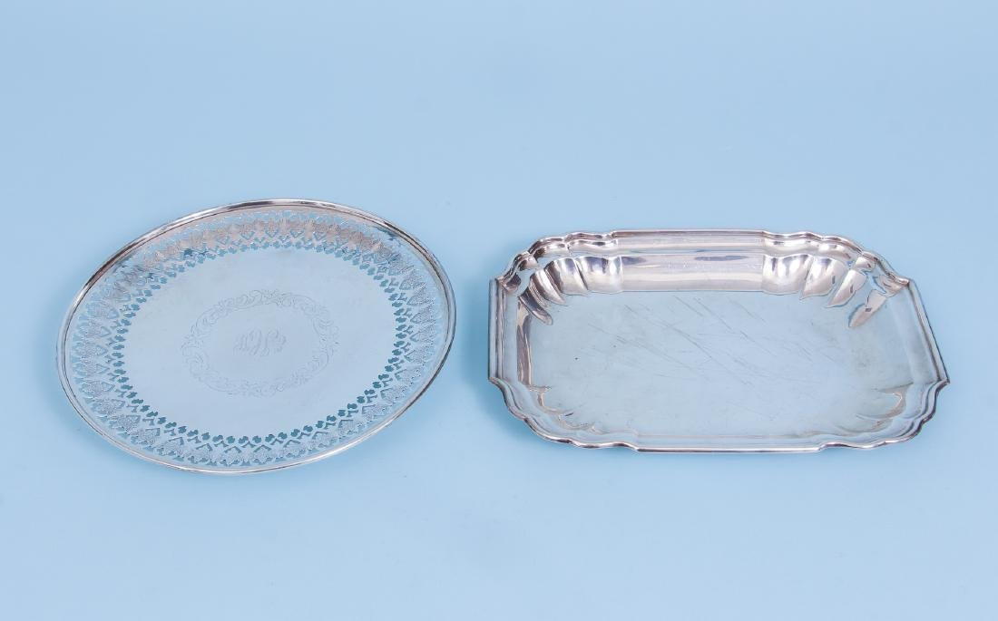 Pair of Sterling Silver Serving Trays