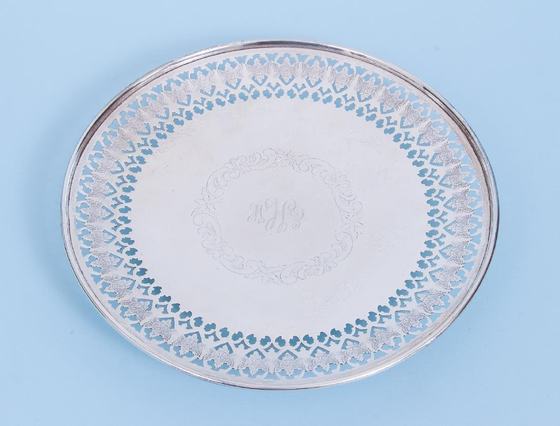 Pair of Sterling Silver Serving Trays - 2