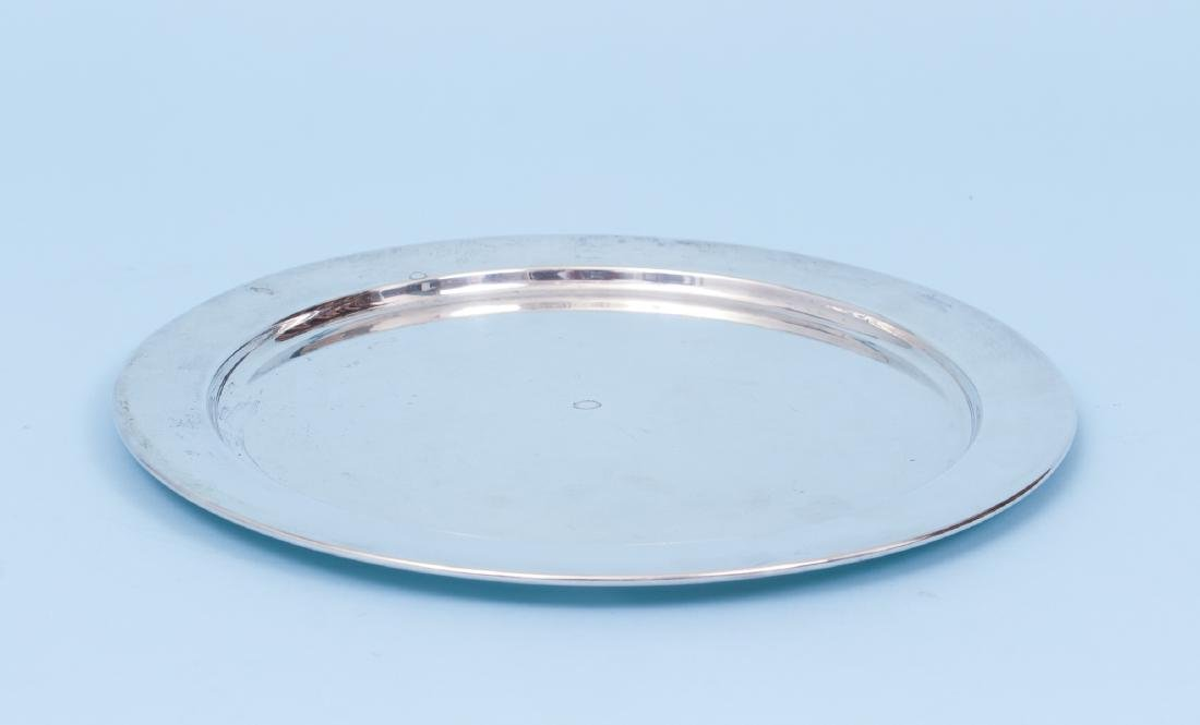 Three Sterling Silver Serving Trays - 7