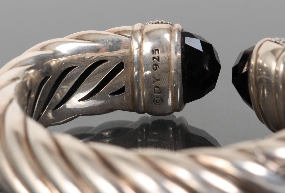 David Yurman Sterling Diamond and Onyx Bracelet - 4