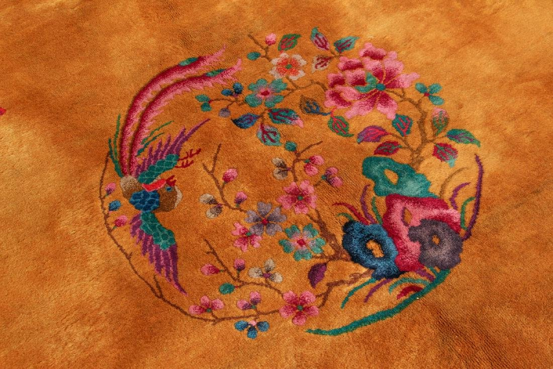 Antique Chinese Art Deco Wool Carpet - 2