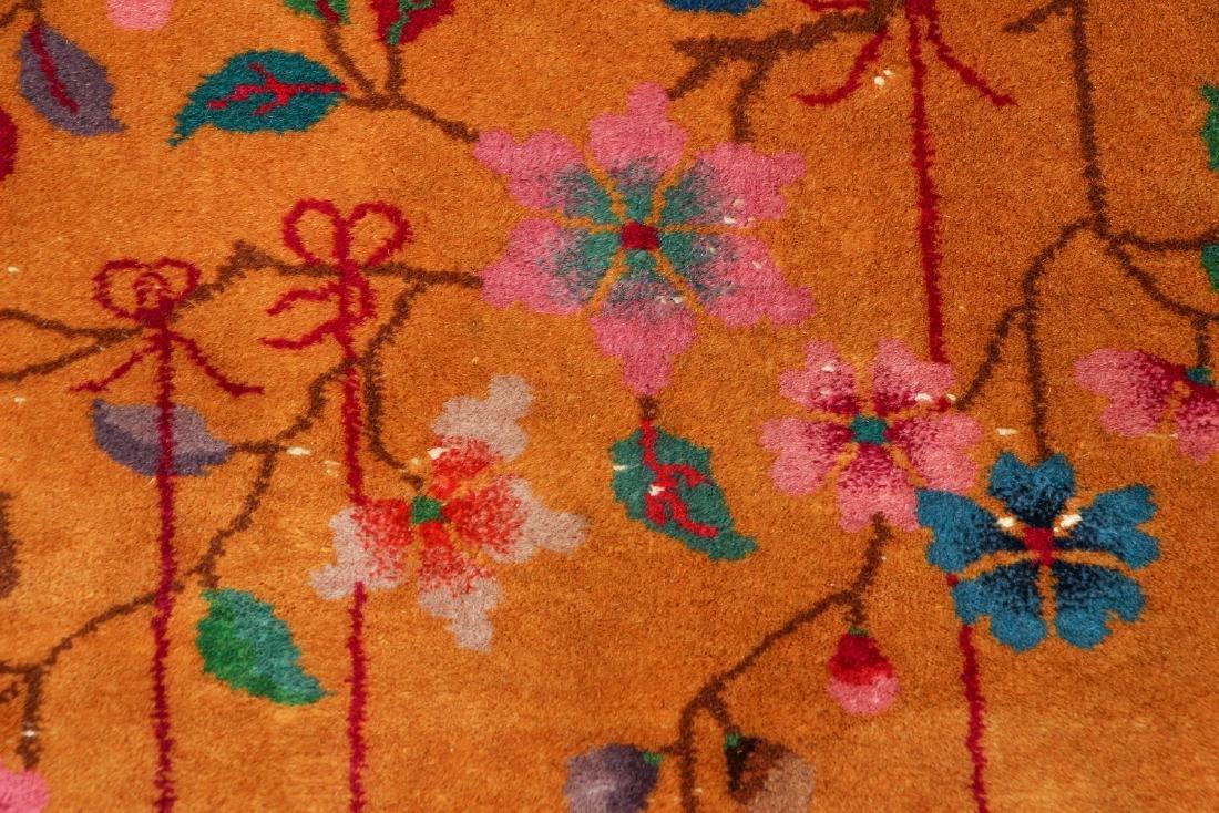 Antique Chinese Art Deco Wool Carpet - 3