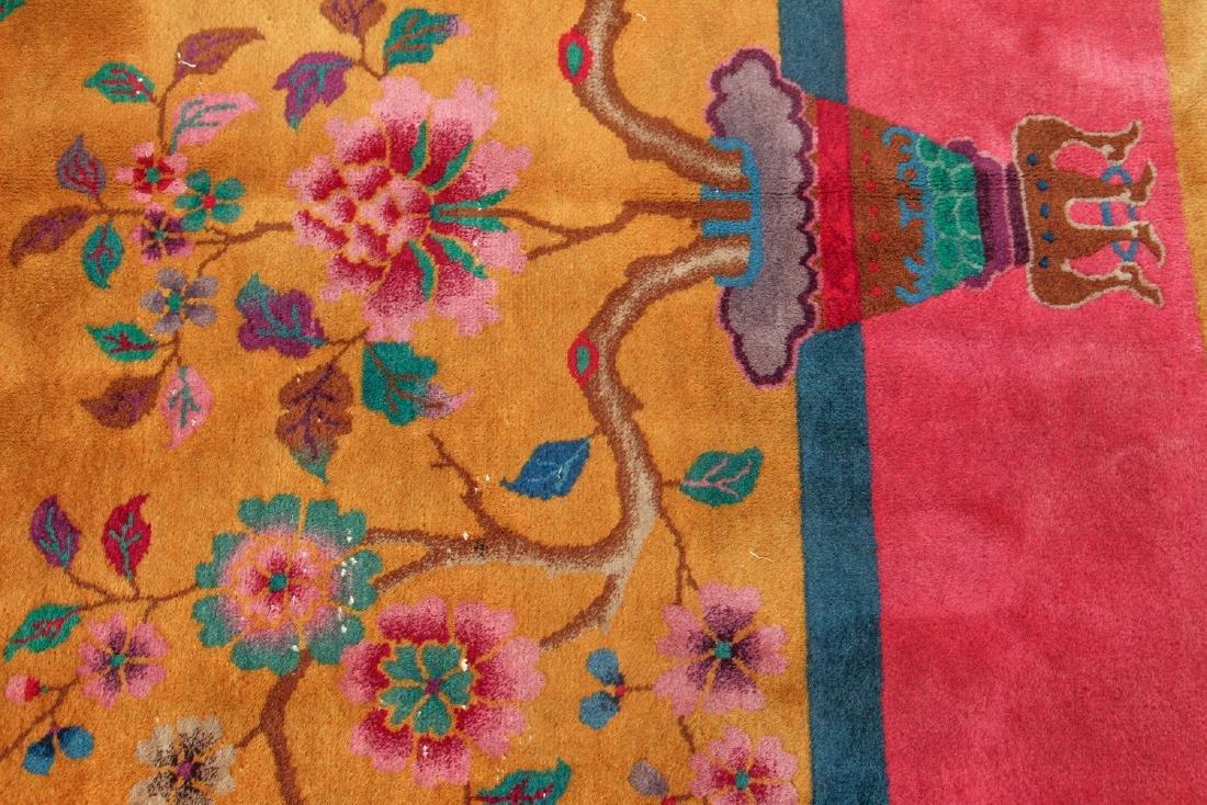 Antique Chinese Art Deco Wool Carpet - 4
