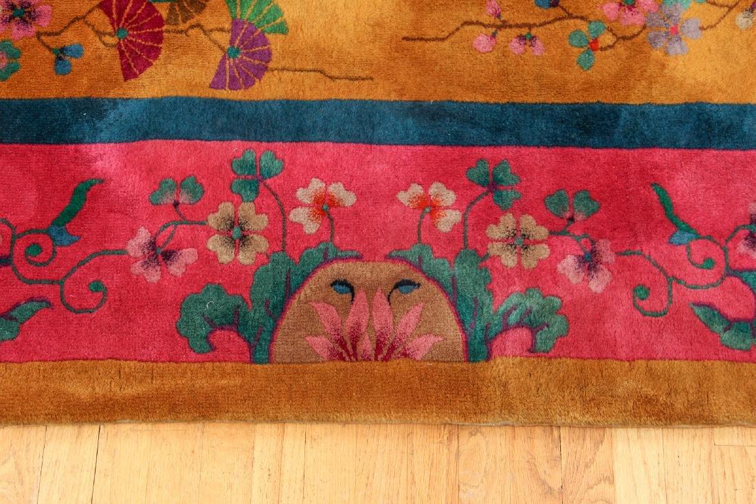 Antique Chinese Art Deco Wool Carpet - 5