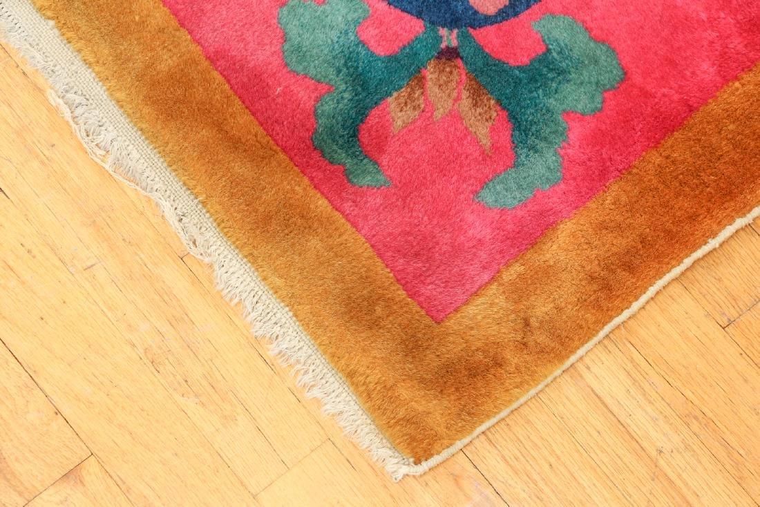 Antique Chinese Art Deco Wool Carpet - 6
