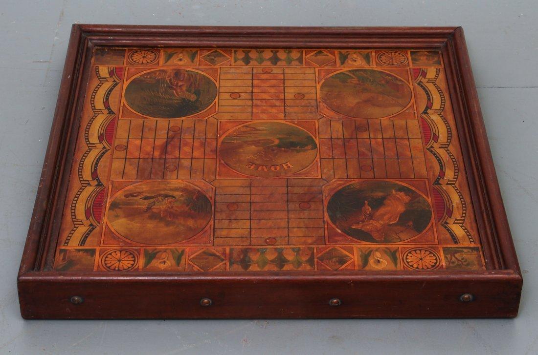 Exceptional Folk Art Tumbling Block Game Board - 10