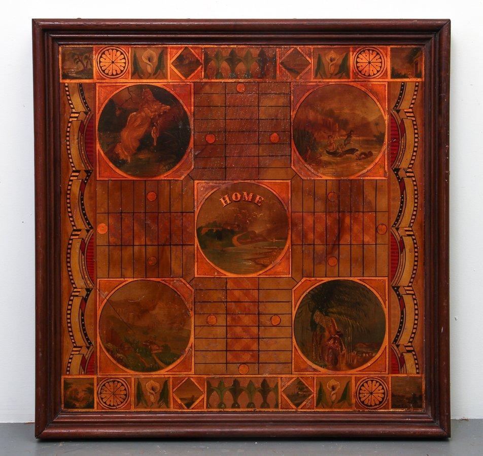 Exceptional Folk Art Tumbling Block Game Board