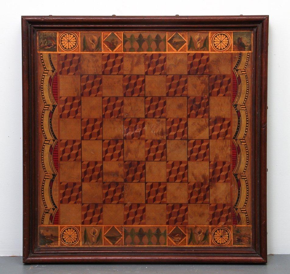 Exceptional Folk Art Tumbling Block Game Board - 2
