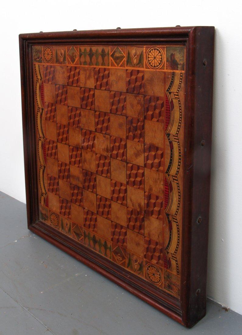Exceptional Folk Art Tumbling Block Game Board - 3