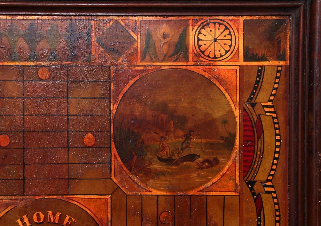 Exceptional Folk Art Tumbling Block Game Board - 5