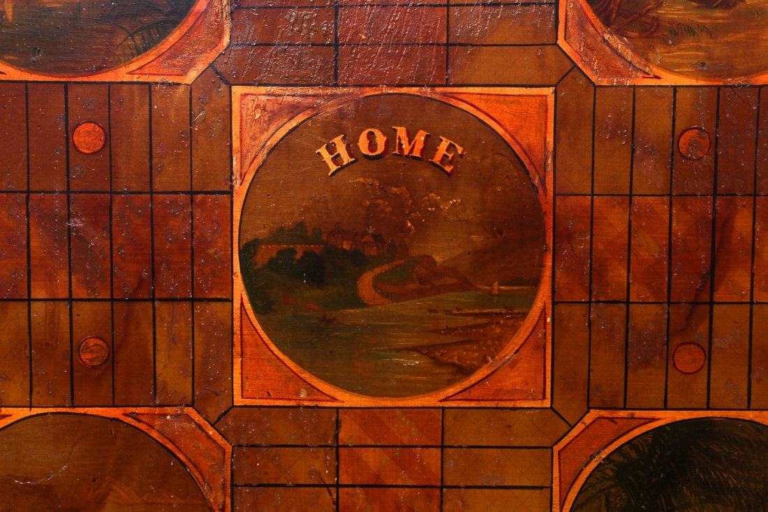 Exceptional Folk Art Tumbling Block Game Board - 6