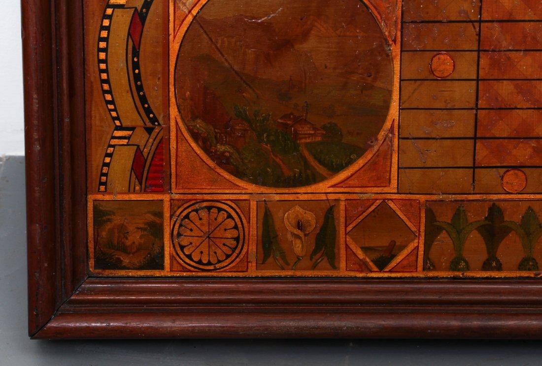 Exceptional Folk Art Tumbling Block Game Board - 7