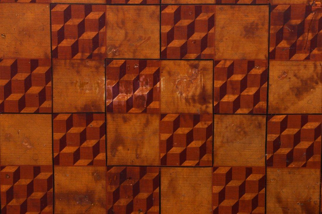 Exceptional Folk Art Tumbling Block Game Board - 8