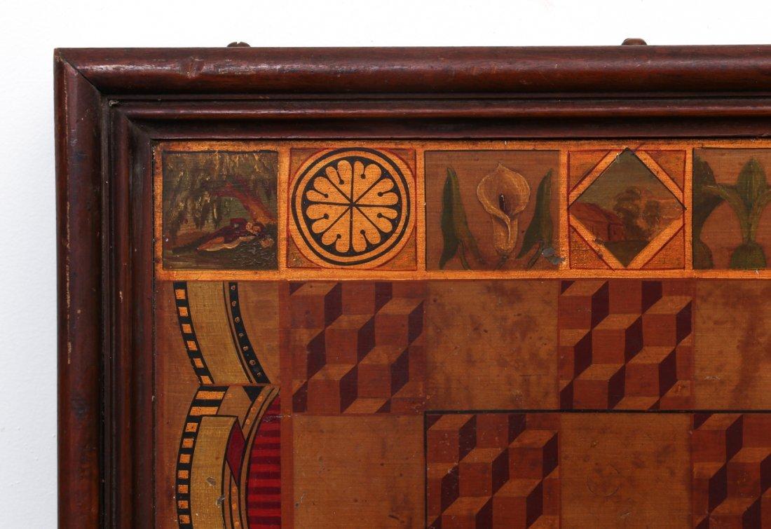 Exceptional Folk Art Tumbling Block Game Board - 9