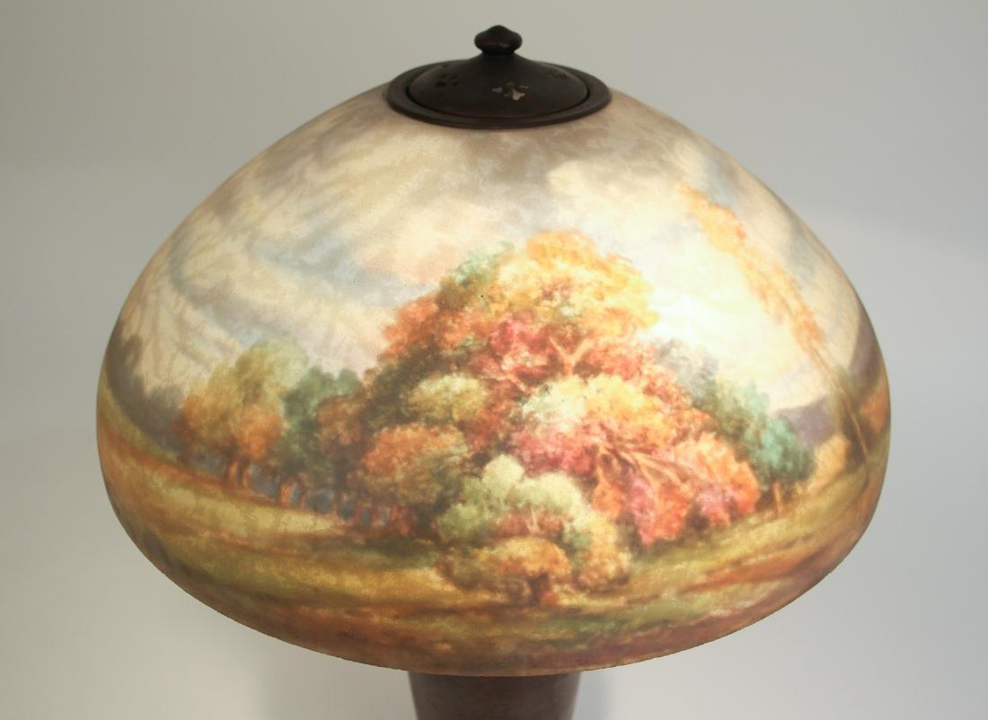 Handel Lamp with Henry Bedigie Signed Shade - 2