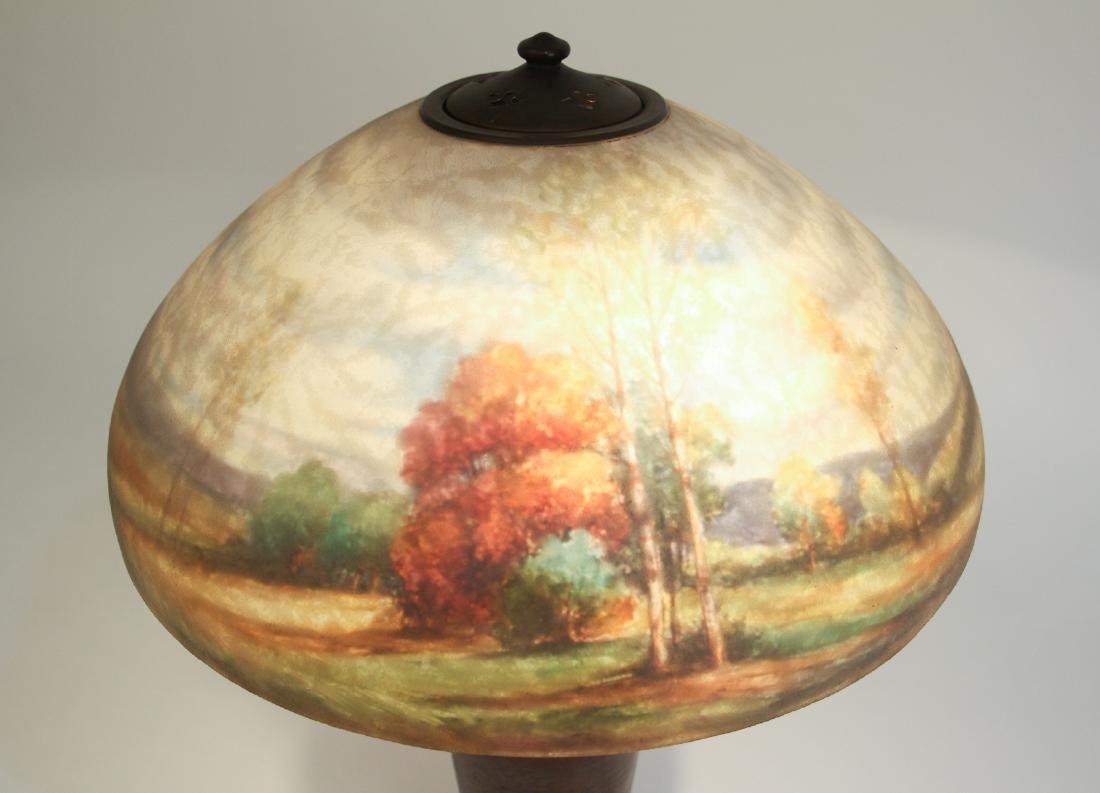 Handel Lamp with Henry Bedigie Signed Shade - 3