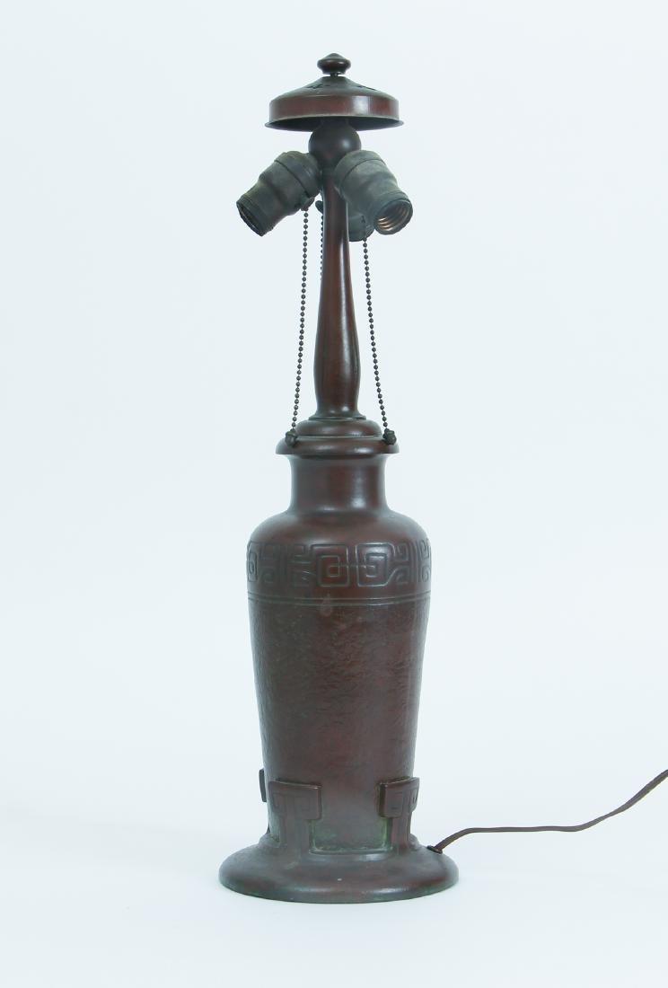 Handel Lamp with Henry Bedigie Signed Shade - 5