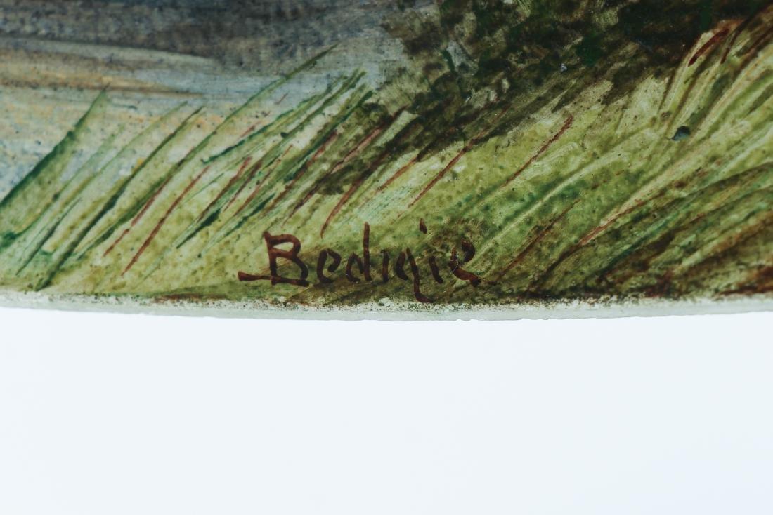 Handel Lamp with Henry Bedigie Signed Shade - 9