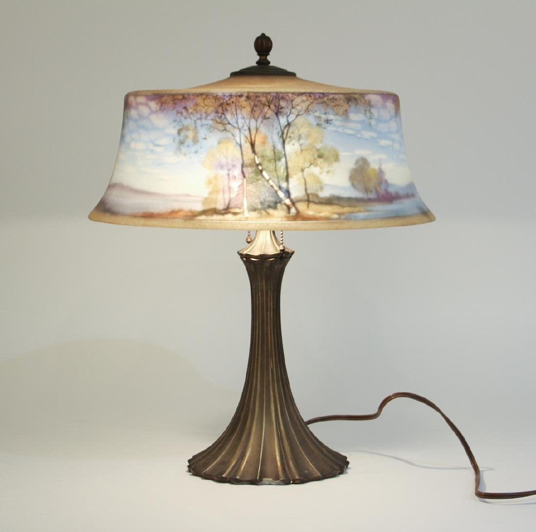 Pairpoint Reverse Painted Shade Lamp