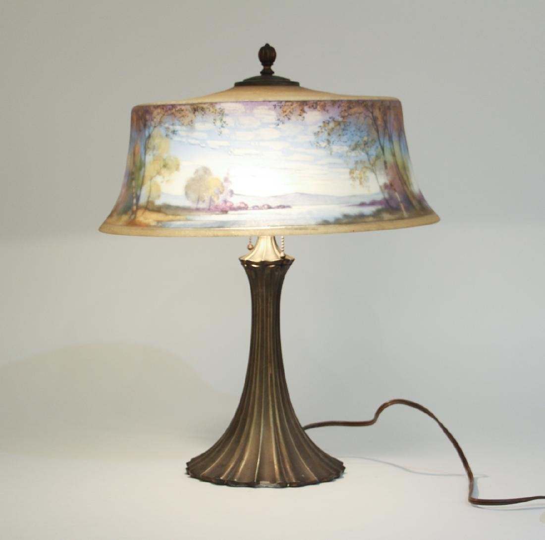 Pairpoint Reverse Painted Shade Lamp - 2