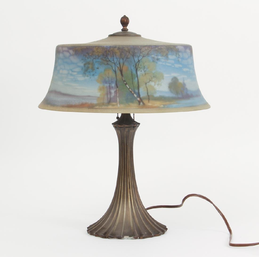 Pairpoint Reverse Painted Shade Lamp - 3