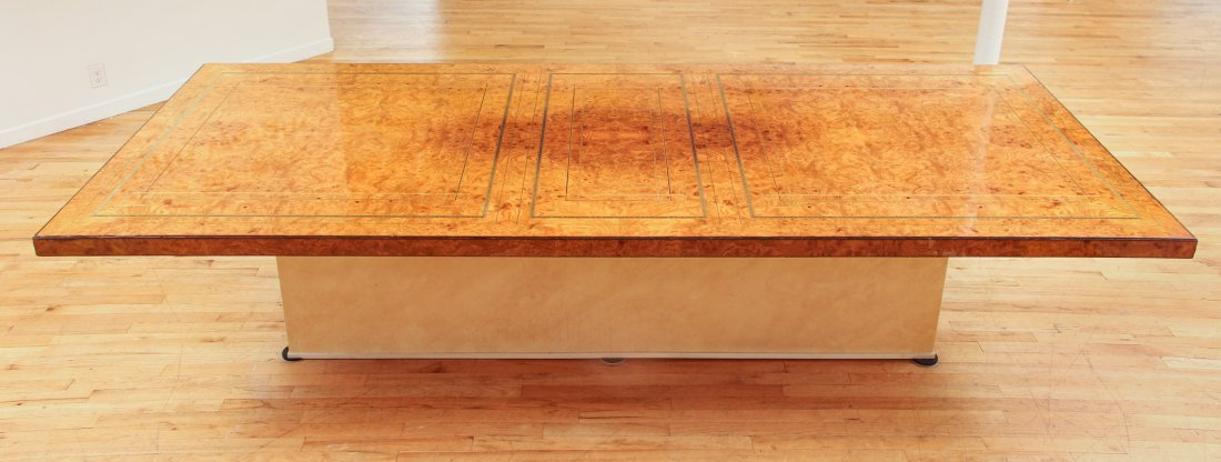 Extensively Cross banded Inlaid Banquet Table