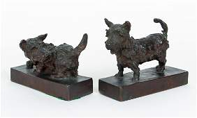 Edith Barretto Parsons Terrier Book Ends