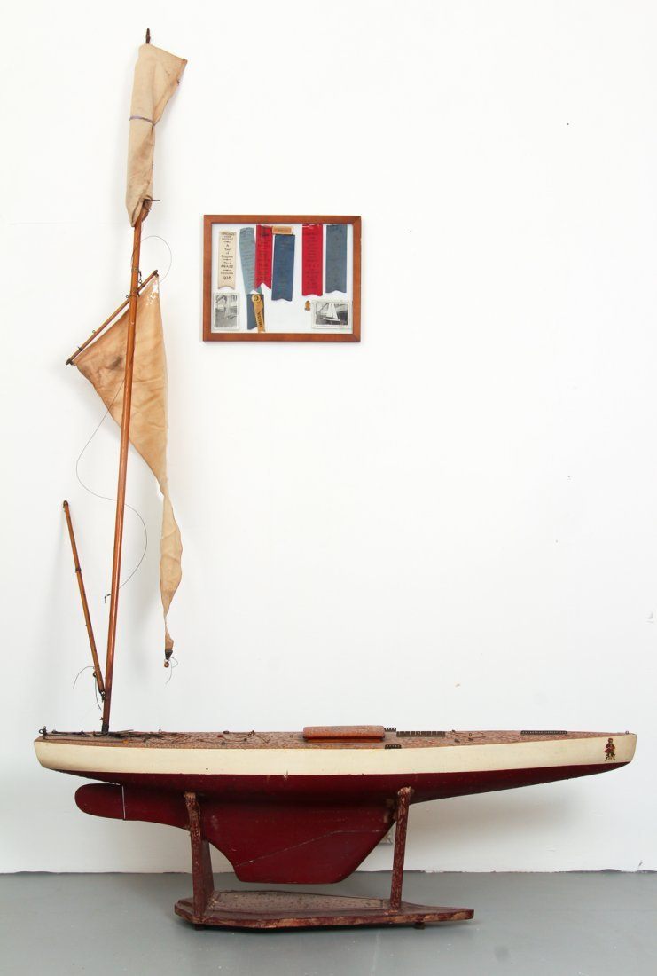Marblehead Model Sail Boat with Awards