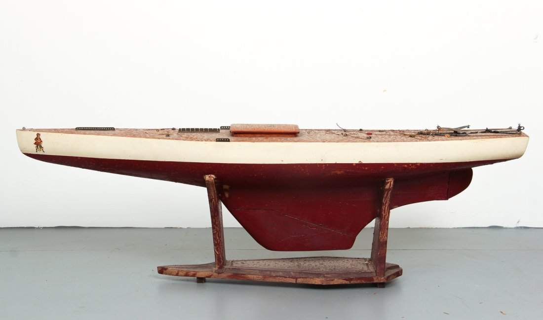 Marblehead Model Sail Boat with Awards - 4