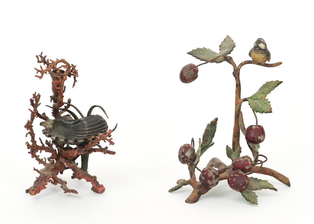Two Vienna Bronze Cold Painted Items