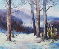 Olive Ruth Chaffee oil Winter Landscape