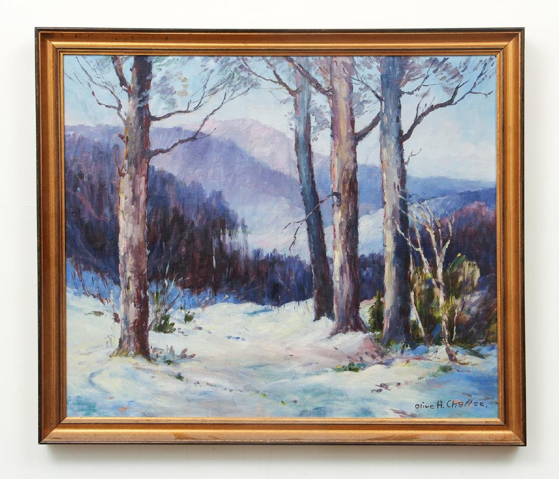 Olive Ruth Chaffee oil Winter Landscape - 2