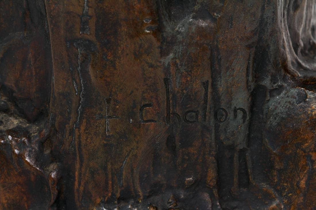 Louis Chalon Goat Herder Shepherdess Bronze - 2