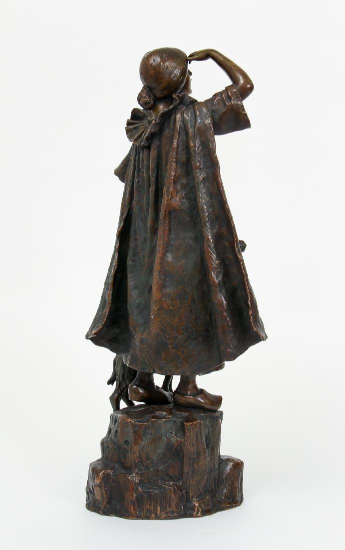Louis Chalon Goat Herder Shepherdess Bronze - 4