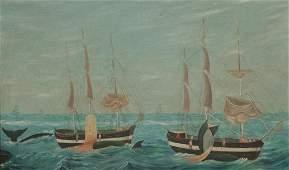 Asa Coffin New England Fleet Whaling off the Coast