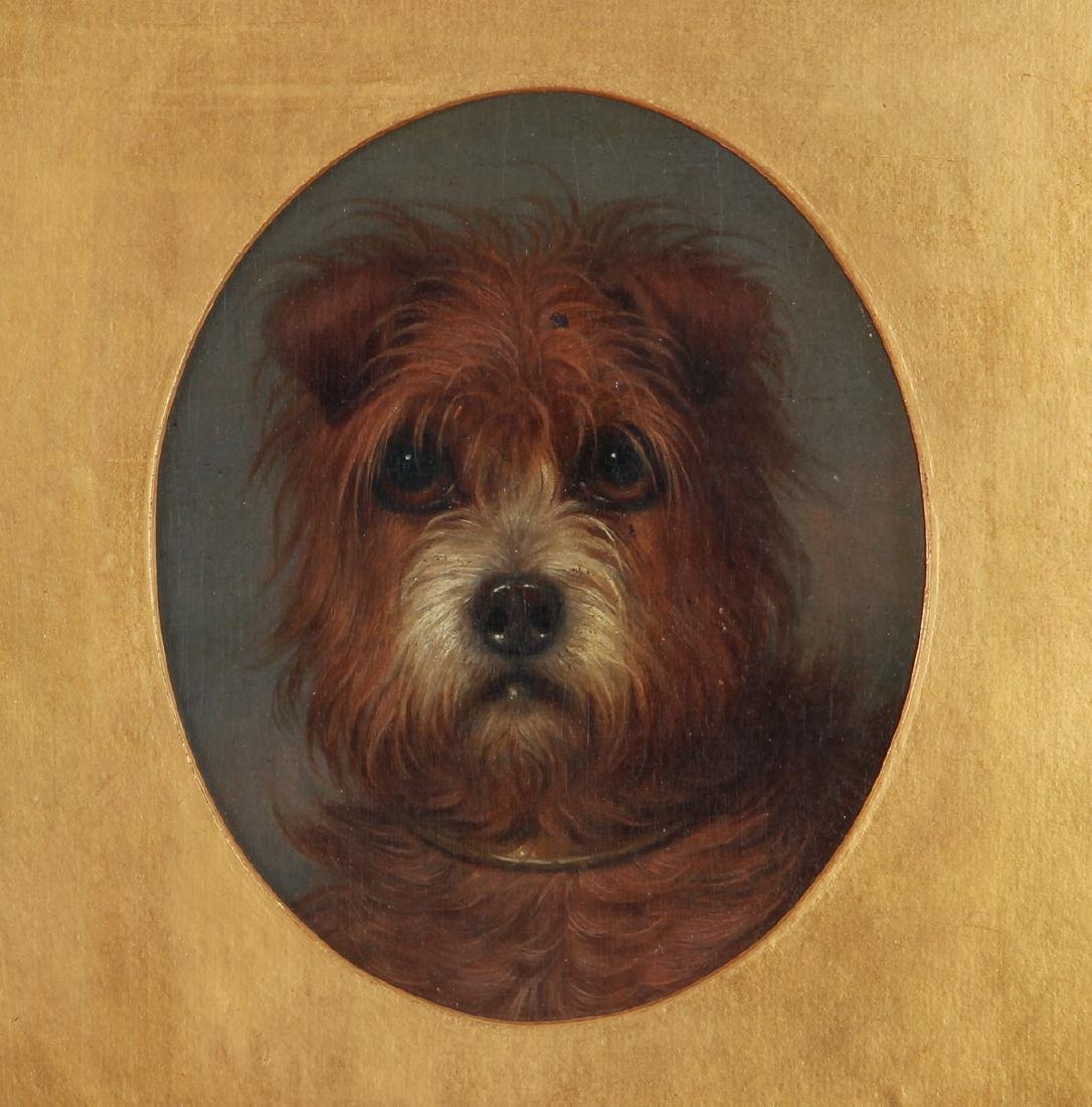 19th Century Painting of a Terrier Dog