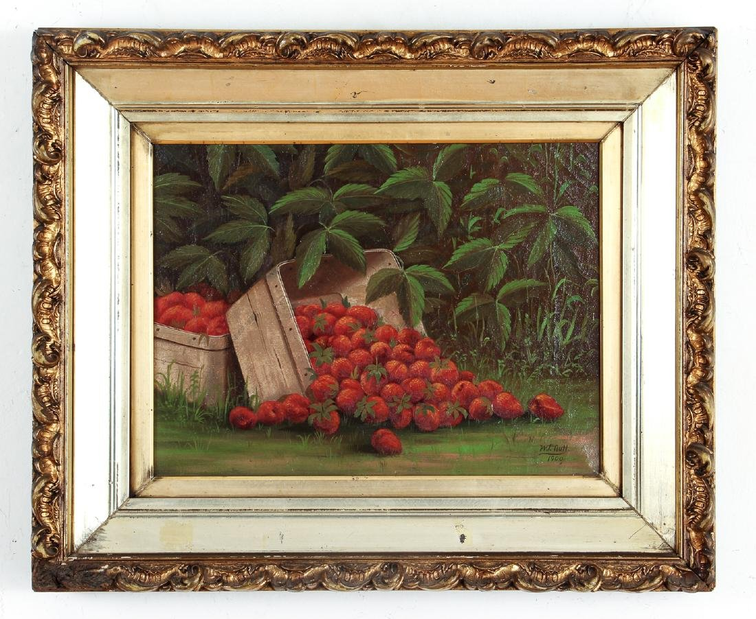 W. F. Nutt 1900 painting Basket of Strawberries - 2
