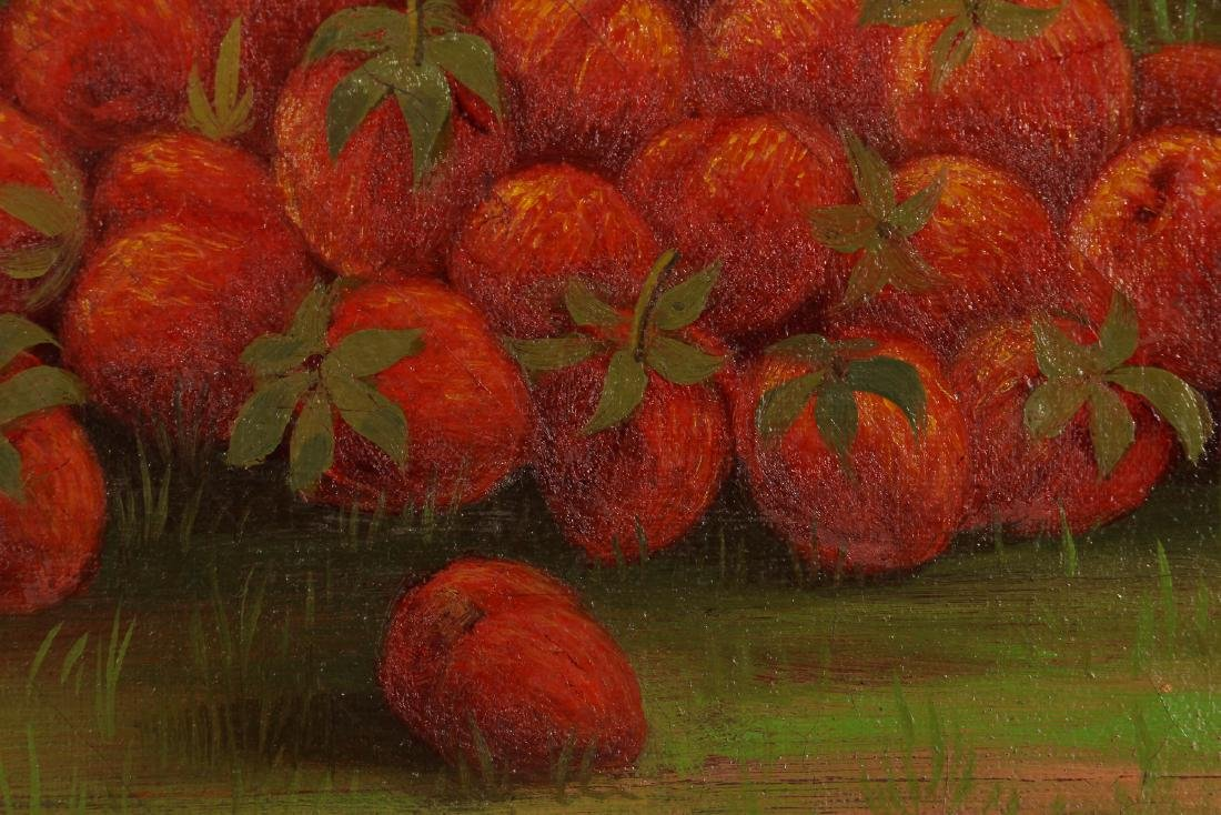 W. F. Nutt 1900 painting Basket of Strawberries - 4