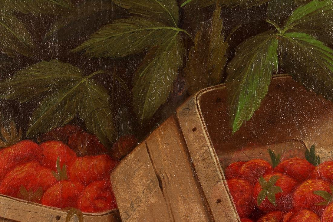 W. F. Nutt 1900 painting Basket of Strawberries - 5